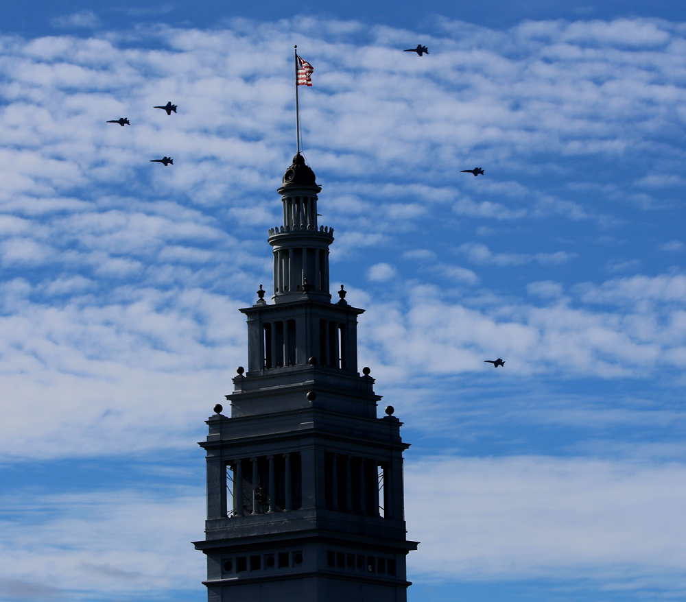 Ferry Building San Francisco with the Blue Angels for Fleetweek 2012