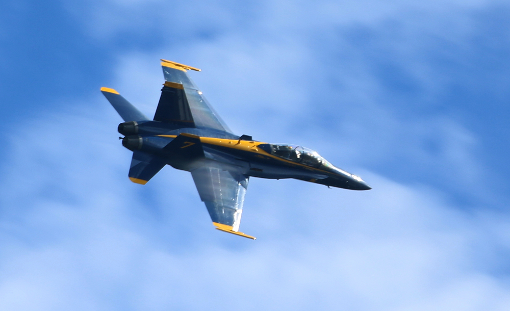 Close up of one of the Blue Angels