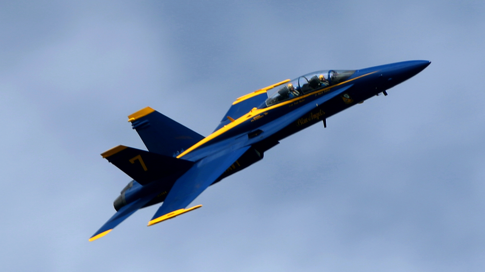 Close up of Blue Angels at Fleetweek 2012 in San Francisco