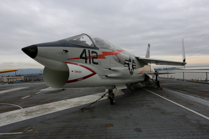 F8 Crusader jet at the USS Hornet CVS 12