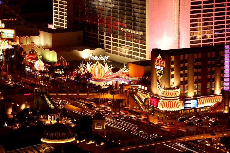 The old Flamingo still going strong in Las Vegas