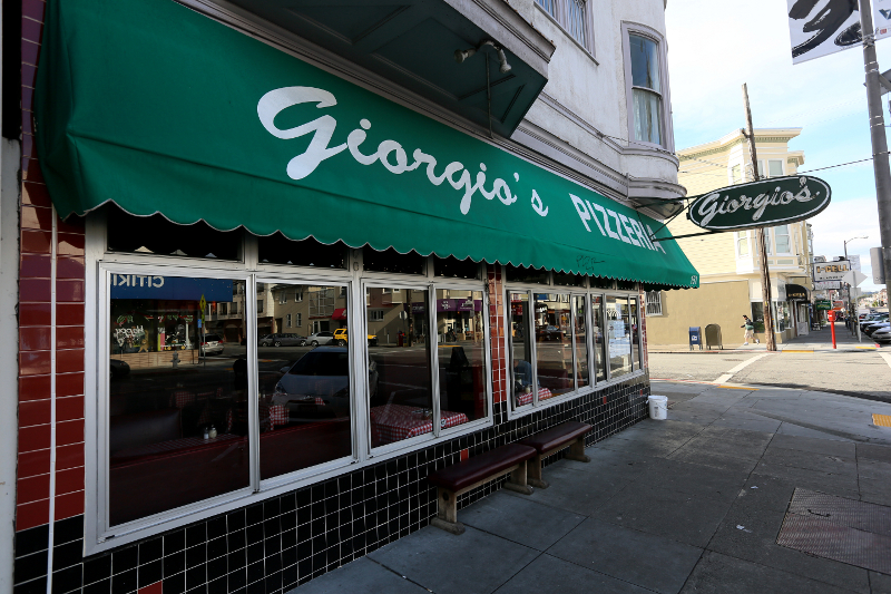 Giorgio's Pizzeria at Clement Street in Richmond District San Francisco