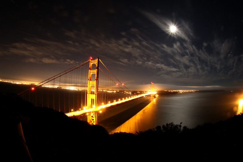 Golden-Gate-Bridge-night-Fisheye