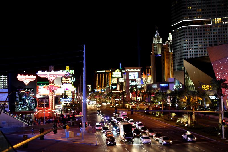 Las Vegas strip at night.. Love the Neon