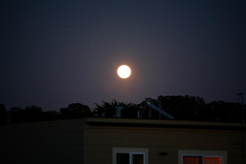Supermoon rising May 5 San Francisco