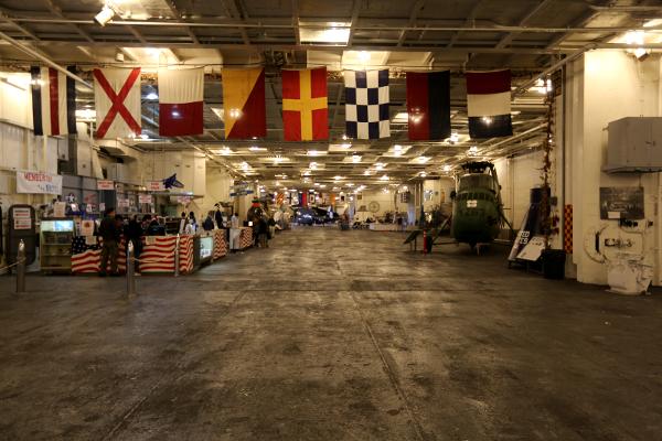 USS Hornet Hangar Deck