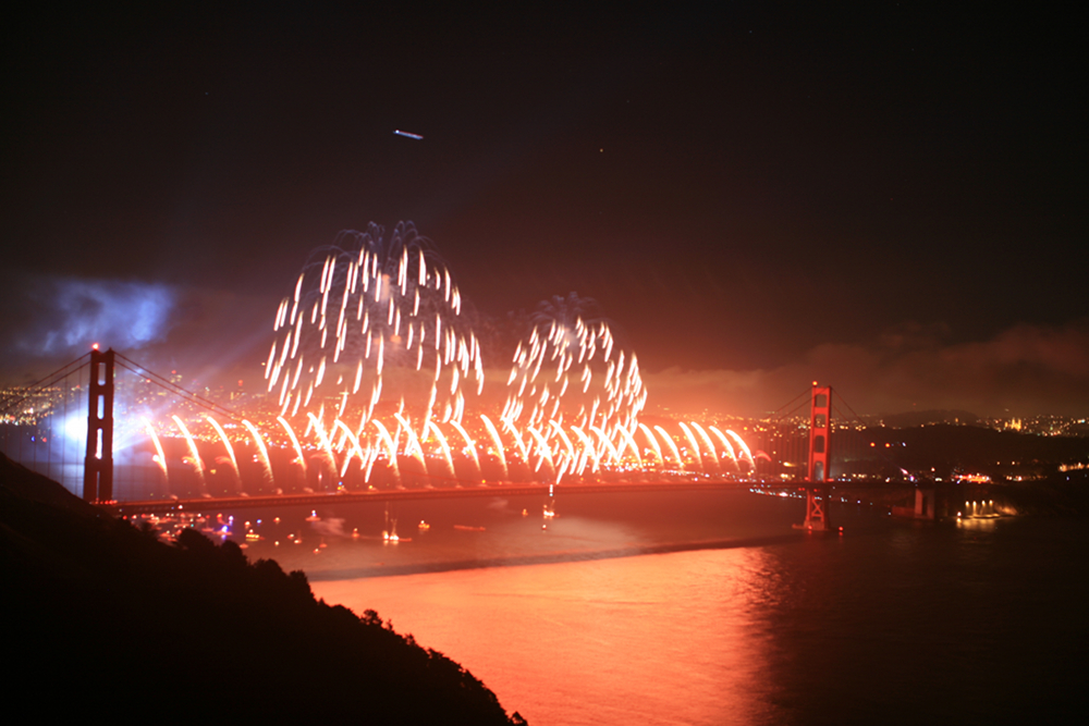 75 years Golden Gate Bridge Fireworks