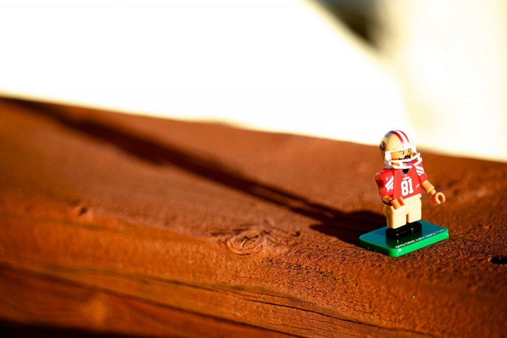 San Francisco 49ers player in Lego